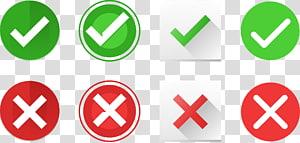 vérifier et x illustrations, icône représentant une coche de signe de crochet, icône de crochet png