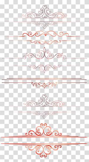 Fichier informatique, texture de bordure de ligne de séparation de modèle européen, décors de papier de couleurs assorties png