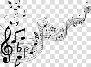 Note de musique Staff, Notes, illustration de la note de musique png