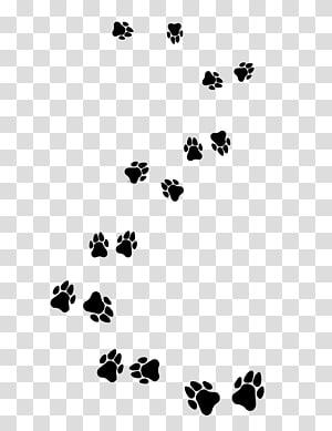 Patte de chat de chiot de chien de berger d'Asie centrale, belles empreintes de pas de chiot noir png