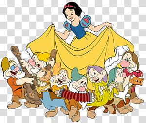 Blanche-Neige et l'illustration des 7 nains, Blanche-Neige Sept Nains Bashful Grumpy, Blanche-Neige Et Les Sept Nains png
