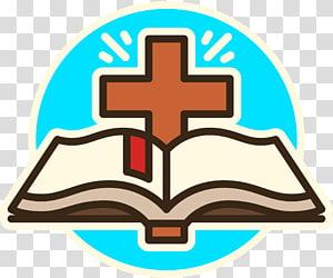 illustration de livre et croix, LOGO conçu par Cross et la Bible png