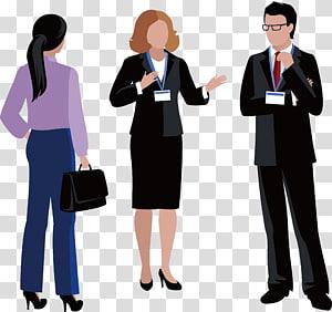 deux femmes et un homme en tenue de ville discuter, icône de l'entreprise, conception d'entreprise png