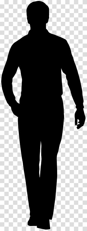 Silhouette, Silhouette masculine png