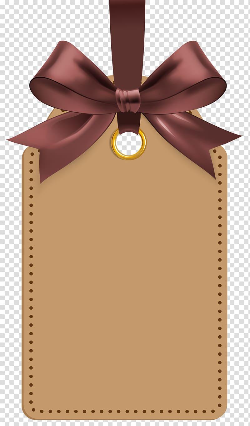 Étiquette, étiquette avec modèle d'arc brun, illustration d'étiquette étiquette brune png
