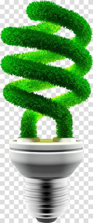 illustration d'ampoule verte et grise, économie d'énergie énergie renouvelable respectueuse de l'environnement ampoule à incandescence, économie d'énergie et protection de l'environnement png