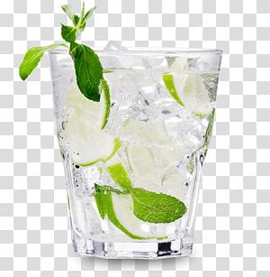 verre de roches rempli de citron vert, Vodka tonique Cocktail Boisson distillée Bière, mojito png