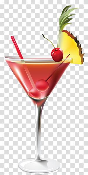 Tournevis russe rouge Blue Lagoon Blue Hawaii, cocktail à l'ananas, illustration d'une boisson cocktail png