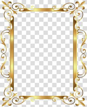 Cadre doré, bordure or Déco, cadre doré png
