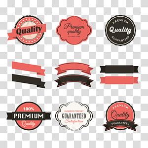 collage de logo assorti, autocollant de ruban d'étiquette en papier, rubans et autocollants rétro png
