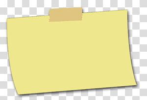 Marque de papier jaune, pense-bête, pense-bête jaune png