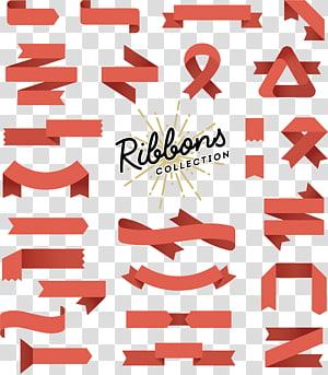 Bannière Design plat Illustration, étiquette de ruban de design de mode, logo de la collection Ribbon png
