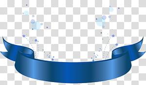 Motif bleu, élément décoratif bannière bleue, illustration du ruban bleu png