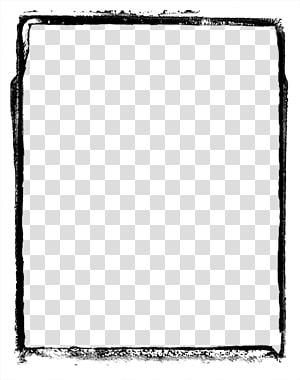 tableau noir, cadre de dessin animé peint à la main, bordure peinte png