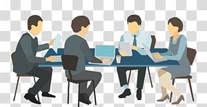 groupe, gens, devant, table, illustration, réunion, réunion, gens affaires png