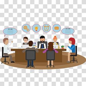 personnes à la réunion illustration, travail d'équipe euclidienne, réunion png