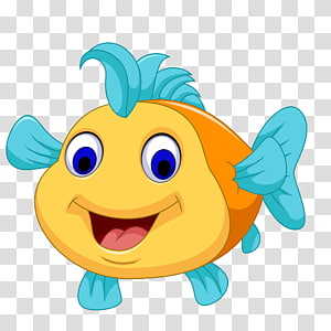 illustration de poisson, illustration de poisson de dessin animé, poisson mignon de dessin animé png