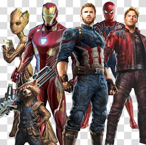 Illustration de personnages Avengers, Captain America Spider-Man Iron Man Clint Barton Star-Lord, Avengers png