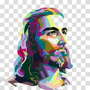 Jésus-Christ multicolore, représentation de l'église luthérienne de Woodbury, Jésus-Christ png