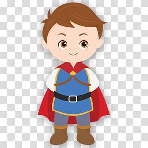 homme avec illustration cape, neige blanche sept prince de bande dessinée nain charmant, le petit prince png