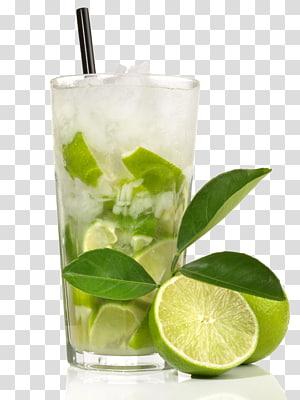 Verre à boire clair, Caipirinha Cocktail Tequila Sunrise Cachaxe7a Mojito, boisson au citron png