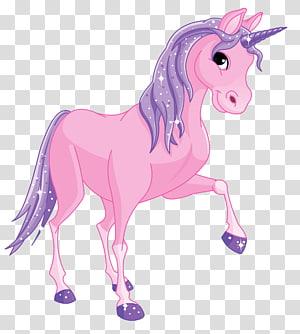 Poney Licorne, Poney Rose, illustration de la Licorne Rose png