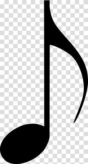 Note de musique croche Note entière, notes de musique png