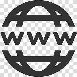 Site Web d'icônes d'ordinateur World Wide Web Favicon, domaine, icône Www, logo www rond gris png