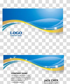 Carte de visite bleu icône euclidienne, carte de visite, carte de visite logo nom de société png