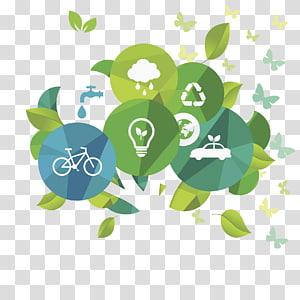 feuilles avec illustration de papillon, Conservation de l'énergie Recyclage des énergies alternatives, Produits économes en énergie png
