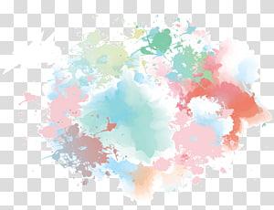 Aquarelle Euclidienne, fond aquarelle peinte à la main Blue Dream, sarcelle et peinture abstraite brune png
