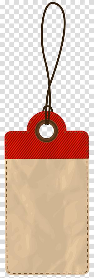 illustration de dentelle d'identification marron et rouge, graphiques d'échelle de prix d'icône, étiquette de prix vide rouge png