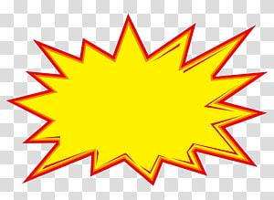 Icône design Explosion Icône, étiquette de prix, illustration de l'explosion de dessin animé png