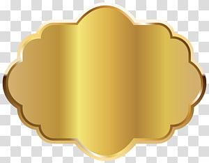 quadrilobe d'or, modèle d'étiquette d'or, or png