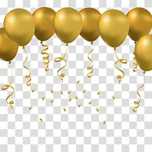 Ballon jouet Euclidien, ballon doré, oeuvre de ballons jaunes png