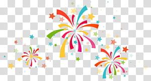 Confetti Party, Confetti Decoration, feu d'artifice multicolore png