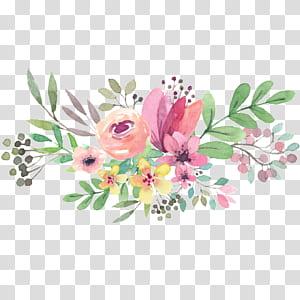 Invitation de mariage Fête des Mères Fête nationale des grands-parents, aquarelle de fleurs, peinture de fleurs de couleurs assorties png