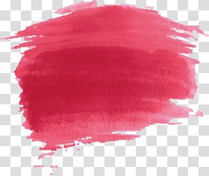 Peinture aquarelle rouge, effet peinture aquarelle rouge png