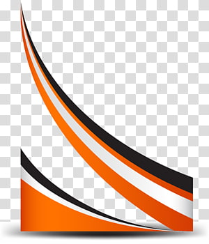 Ligne de courbe, bordure orange simple, graphiques rouge, blanc et noir png