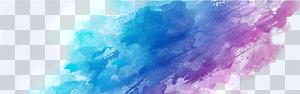 Aquarelle, affiche, dessin, bannière, fumée bleue et violette png