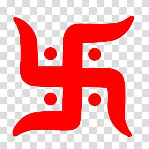 logo rouge, symbole de la croix gammée Ganesha Hindouisme Om, Om png