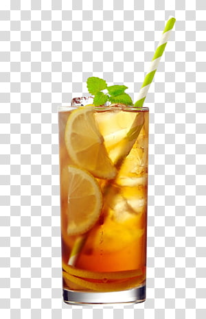 verre de limonade avec paille, thé glacé Appletiser jus de pomme citron, boisson glacée au cola et au citron png