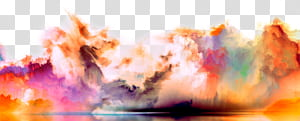 , Fond de fumée de couleur magnifique, fumée multicolore png