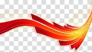 Ligne courbe rouge Euclidien, lignes de flux linéaires de science et technologie colorées en arrière-plan png