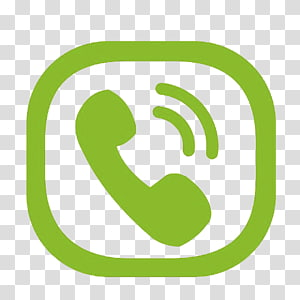 Icône d'appel téléphonique logo, symbole du téléphone vert, illustration d'appel entrant verte png