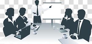 homme ayant rencontre des collègues illustration, informations de présentation d'entreprise, réunion de bureau d'affaires png