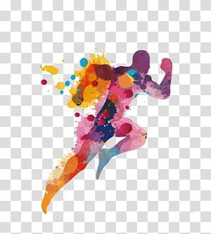 Icône, couleur, sports, illustration humaine athlète png