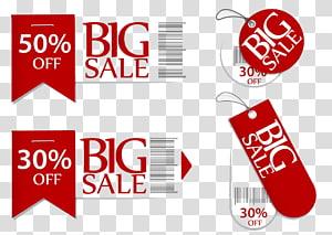 Illustration de grande vente tag, publicité de promotion des ventes, modèle matériel discount chaud étiquettes promotionnelles png