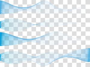 texture de lignes dynamiques bleues exquises, données de quatre vagues png