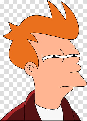 illustration de personnage masculin aux cheveux orange, Philip J. Fry Bender Leela autocollant, futurama png